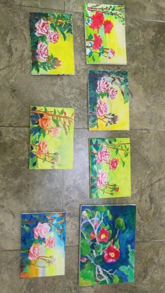 7.22(수) - 기분좋게 하는 꽃 그림 그려보기